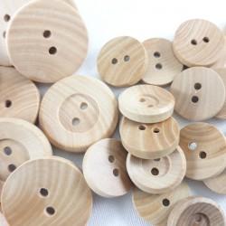 Guziki drewniane Pakiet 10szt 2563