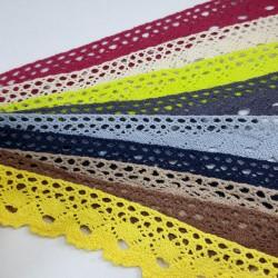 Koronka bawełniana 30mm różne kolory 2569