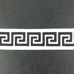 Taśma ozdobna z napisami 25mm 2307