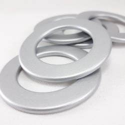 Kółko plastikowe matowe srebro 2539
