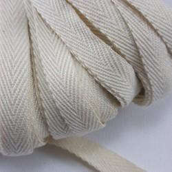 Taśma bawełniana jodełka 10mm/50m naturalna 2696