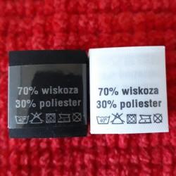 Wszywka skład surowcowy,przepis prania WISKOZA 2741