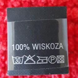 Wszywka skład surowcowy,przepis prania WISKOZA 2754