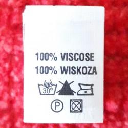 Wszywka skład surowcowy,przepis prania WISKOZA 2755