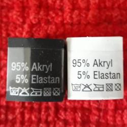 Wszywka skład surowcowy,przepis prania AKRYL 2777