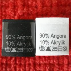 Wszywka skład surowcowy,przepis prania AKRYL 2778