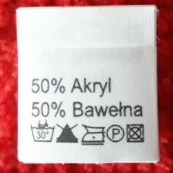 Wszywka skład surowcowy,przepis prania AKRYL 2780