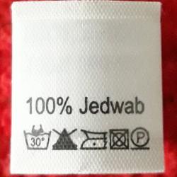 Wszywka skład surowcowy,przepis prania JEDWAB 2784
