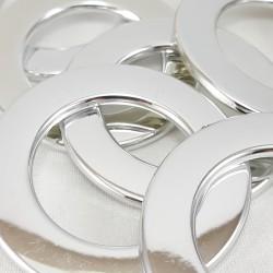 Kółko plastikowe błyszczące srebro 2539