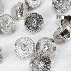 Guzik plastikowy 10mm/144szt srebrny 2857