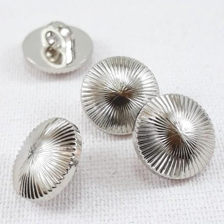 Guzik plastikowy 10mm,11,5mm/144szt srebrny 2860 - 12648