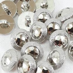 Guzik plastikowy 11,5mm/144szt srebrny 2861