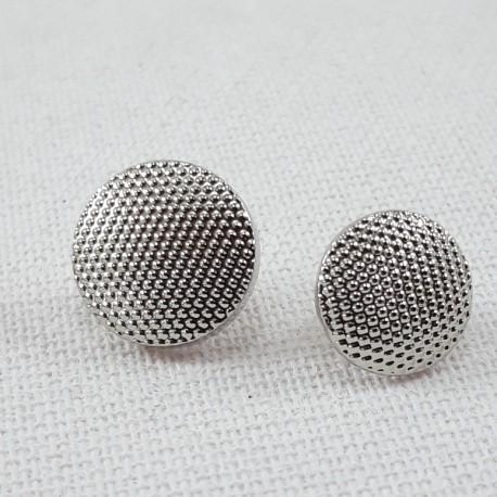 Guzik plastikowy 10mm,8,5mm/144szt srebrny 2863 - 12663