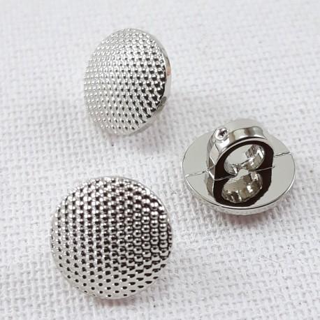 Guzik plastikowy 10mm,8,5mm/144szt srebrny 2863 - 12665