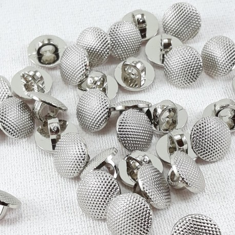 Guzik plastikowy 10mm,8,5mm/144szt srebrny 2863 - 12666