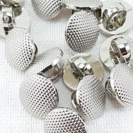Guzik plastikowy 10mm,8,5mm/144szt srebrny 2863 - 12667