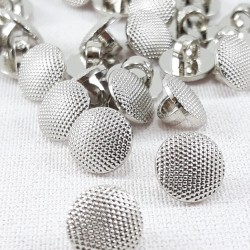 Guzik plastikowy 10mm,8,5mm/144szt srebrny 2863
