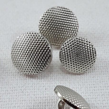 Guzik plastikowy 10mm,8,5mm/144szt srebrny 2863 - 12669