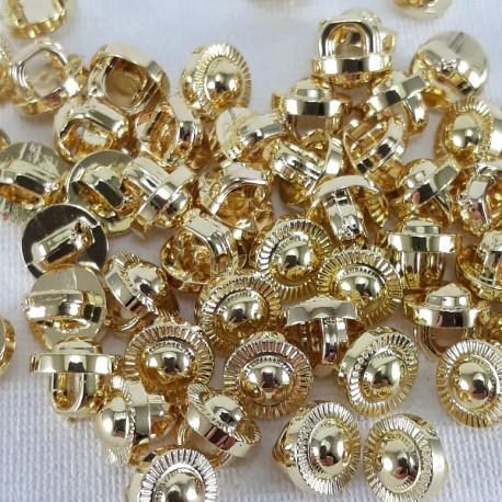 Guzik plastikowy 7mm/144szt złoty 2870 - 12754