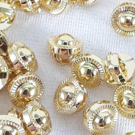 Guzik plastikowy 7mm/144szt złoty 2870 - 12755