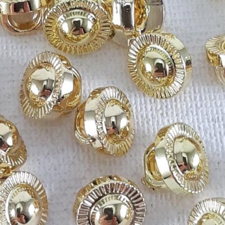 Guzik plastikowy 7mm/144szt złoty 2870 - 12763