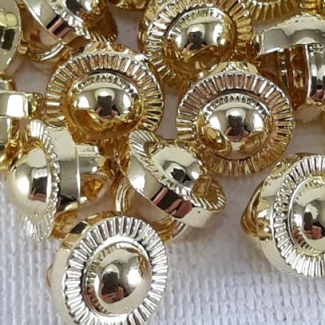 Guzik plastikowy 7mm/144szt złoty 2870 - 12764