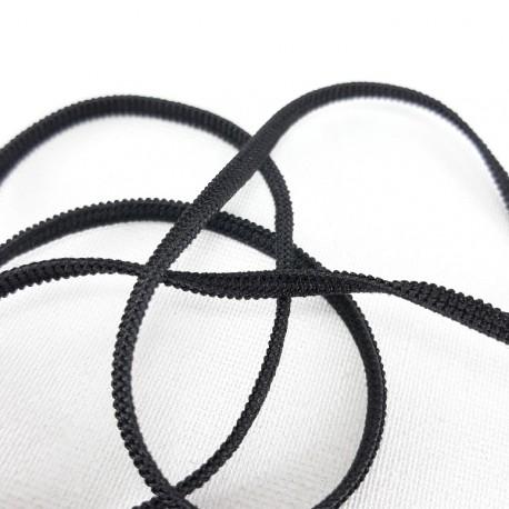 Guma 3mm /200m czarna,płaska 2875 - 12795