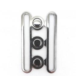Metalowa klamerka 70mm ciemny nikiel 1156