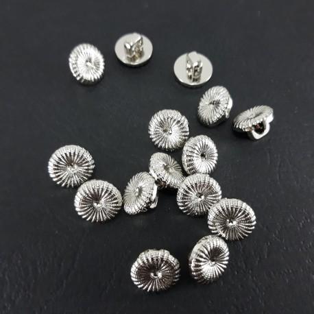 Guzik plastikowy 11mm/144szt srebrny 1597 - 12824