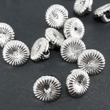 Guzik plastikowy 11mm/144szt srebrny 1597 - 12825