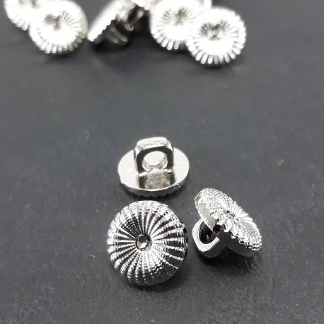 Guzik plastikowy 11mm/144szt srebrny 1597 - 12826