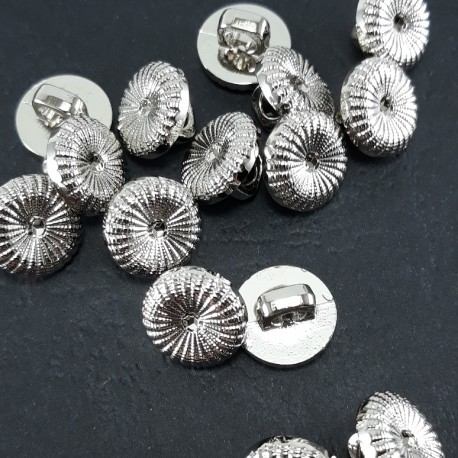 Guzik plastikowy 11mm/144szt srebrny 1597 - 12827