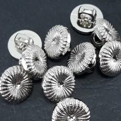 Guzik plastikowy 11mm/144szt srebrny 1597