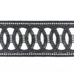 Koronka gipiurowa 50mm/1yard czerń 2880