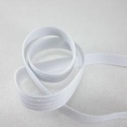Guma w oplocie 4mm/100m biała 2891