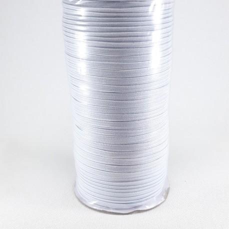 Guma w oplocie 4mm/100m biała 2891 - 12984