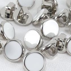Guzik plastikowy 10mm/144szt srebrno biały 2900