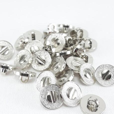 Guzik plastikowy 11mm/144szt srebrny 2877 - 13055
