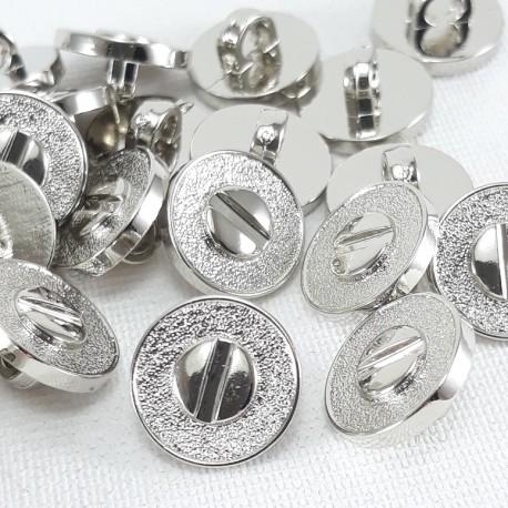 Guzik plastikowy 11mm/144szt srebrny 2877 - 13056