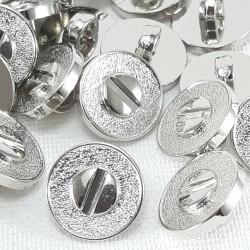 Guzik plastikowy 11mm/144szt srebrny 2877