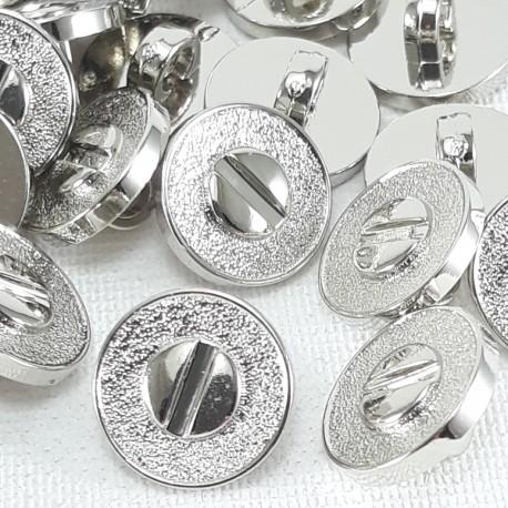 Guzik plastikowy 11mm/144szt srebrny 2877 - 13057