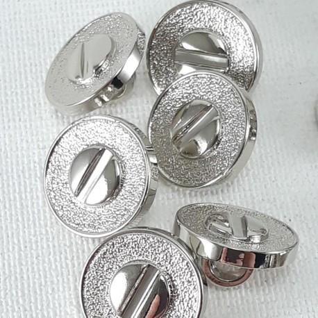 Guzik plastikowy 11mm/144szt srebrny 2877 - 13058
