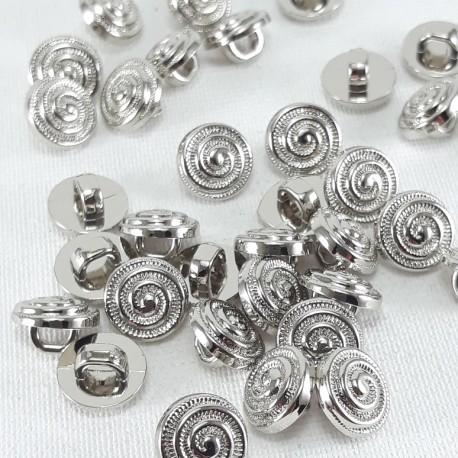 Guzik plastikowy 9mm/144szt srebrny 2902 - 13059