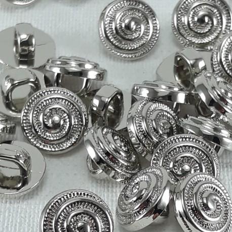 Guzik plastikowy 9mm/144szt srebrny 2902 - 13060