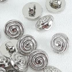 Guzik plastikowy 9mm/144szt srebrny 2902