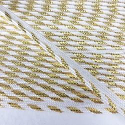 Lamówka -wypustka biało złota Pakiet 5m 440