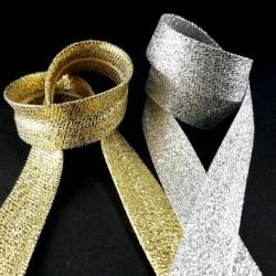Lamówka złota zaprasowana 15mm/1m 2965