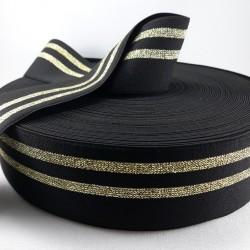 Guma ozdobna czarno -złota 50mm/1m 3012