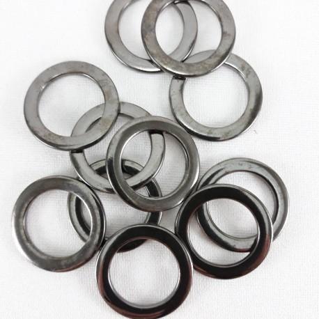 Kółko metalowe 20mm/100szt ciemny nikiel 1472 - 14397