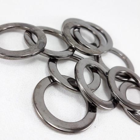 Kółko metalowe 20mm/100szt ciemny nikiel 1472 - 14398